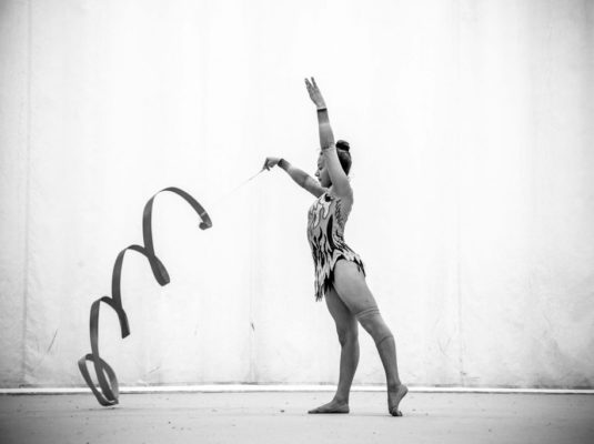 rhythmische Gymnastik Melonen Großvater